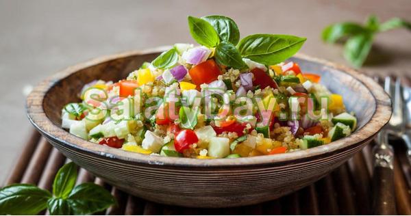 Салат с фасолью и кукурузой, огурцами