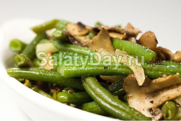 Постный салат с грибами с домашним постным майонезом