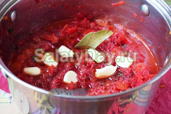 Свекольный салат Аленка