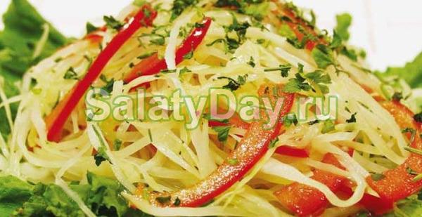 Салат из капусты с болгарским перцем - классический рецепт