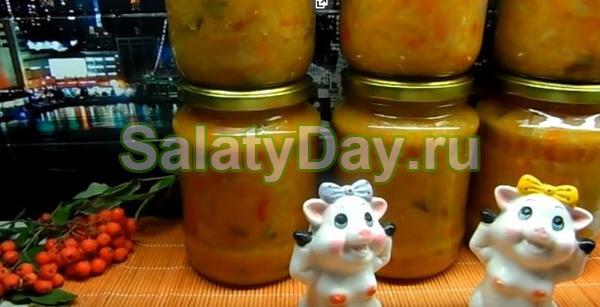 Салат солянка на зиму «классический рецепт»