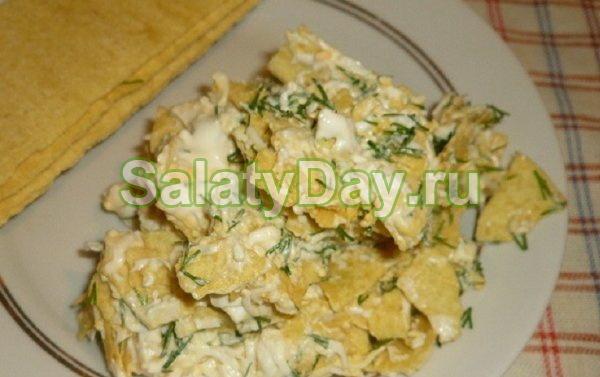 «Самый простой» салат с сюрпризом