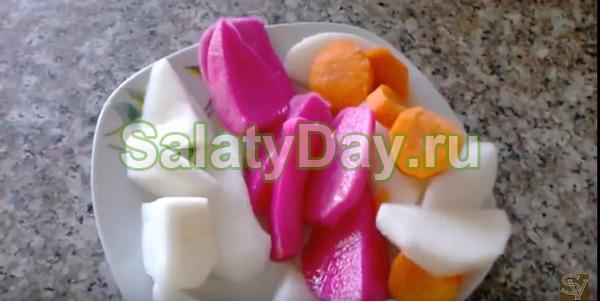 Лифет – салат из соленой редьки на зиму