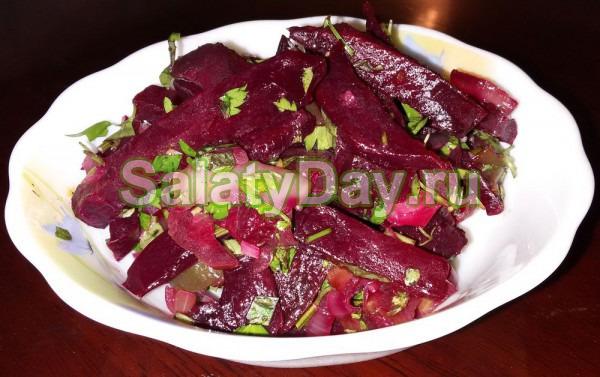 Повседневный салат для вегетарианцев и постного стола