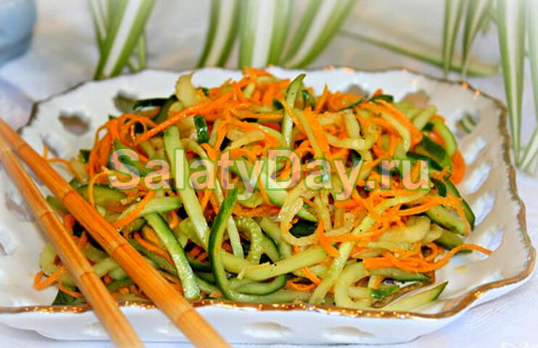Салат из кабачков сырых «С грядки»