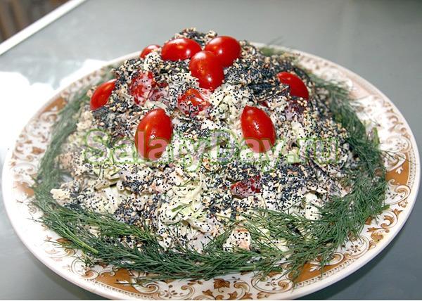 Оригинальный салат курочка под кайфом