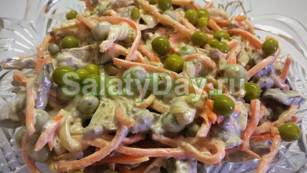 Салат «Обжорка», который делается из любой печёнки