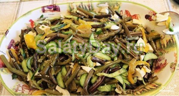 Салат из соленого папоротника