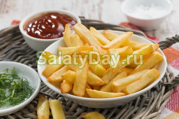 Классический рецепт картофеля фри во фритюре
