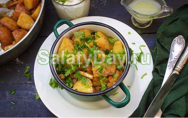 Салат с картошкой фри - классический рецепт