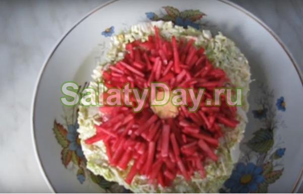 Салат Хризантема быстрого приготовления
