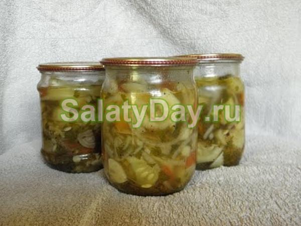 Салат тещин язык из огурцов (вариант 2)