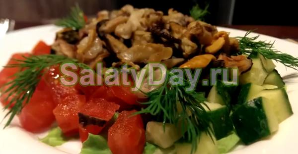 Салат «Морской бриз» с овощами