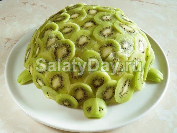 Салат черепашка с киви