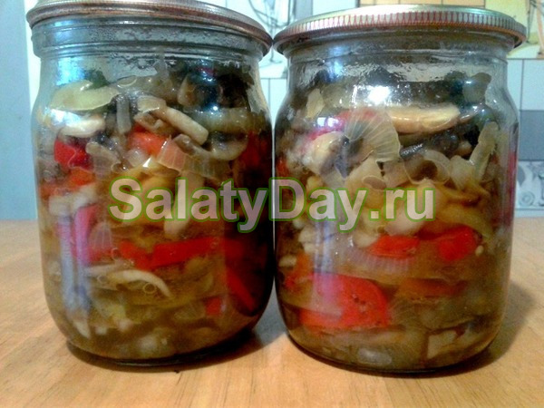 Салат из перца с шампиньонами