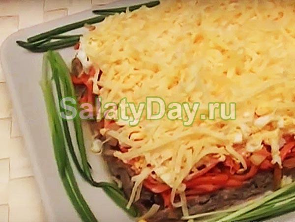 Салат из говяжьей печени и моркови по-корейски, вариант 2