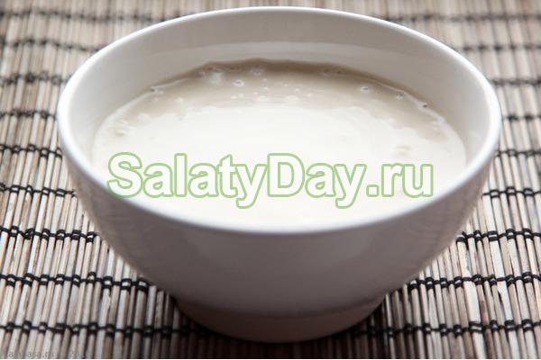 Кефирно-яичный соус для салата
