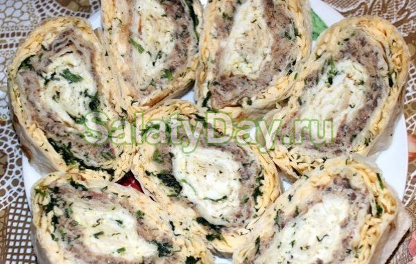 Рулет салат Морской