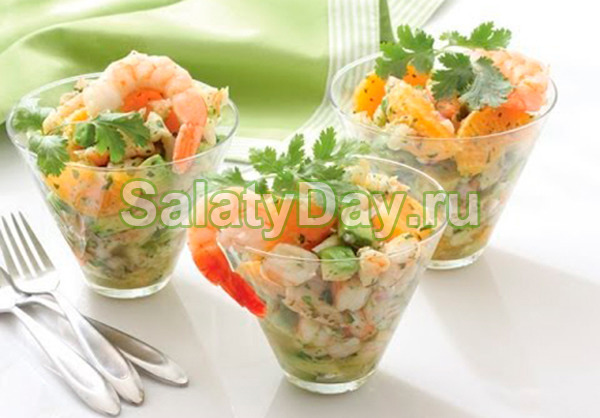 Салат с семгой и авокадо «Большой оригинал»