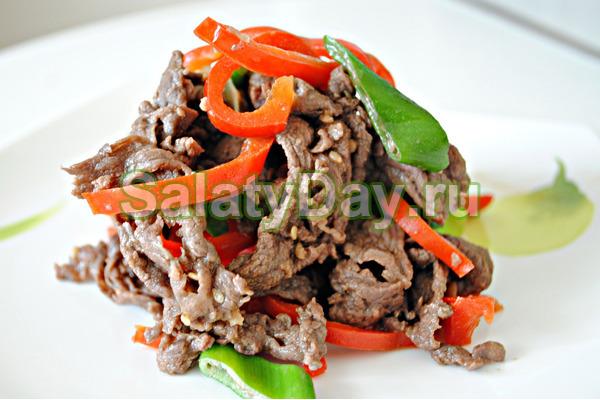 Салат с говядиной и болгарским перцем «Вдохновение»