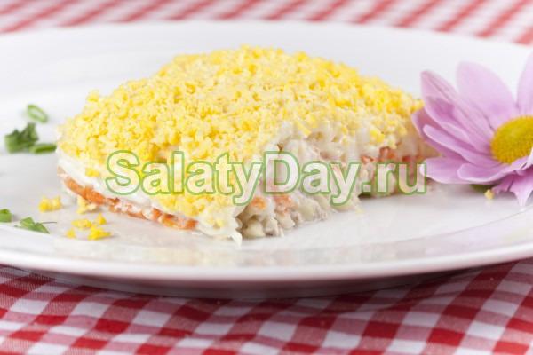 Салат «Мимоза» с тунцом остренький